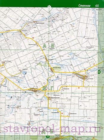 карта Курского района