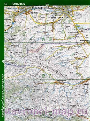 Карта дорог Минеральные Воды,