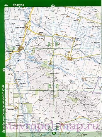 Карта автодорог Степновского