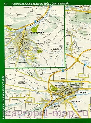 Карта Кавказских Минеральных